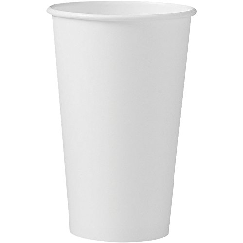 Solo 316W-2050 16 oz White SSP Paper Hot Cup (Case of 1000) (White Paper Hot Cup)