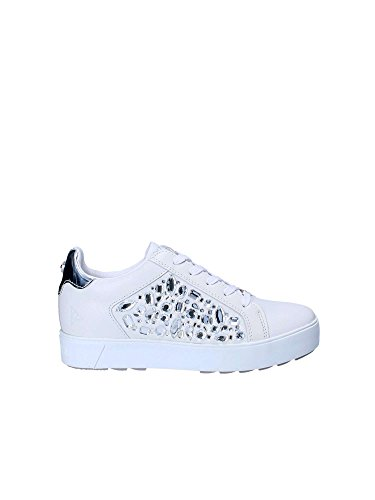 Apepazza Damienne Blanc Argent diamants Chaussures Blanc argent Rsw16 Sneakers Coin SqwrFaSB