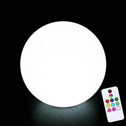 Obell 8 inch LED Solar Ball Light 10 Colors Decorative Garden Light Outdoor Waterproof Globe Light Garden Solar Lamp Table Light (8 inch (Remote Control)) (Solar Balls Garden)