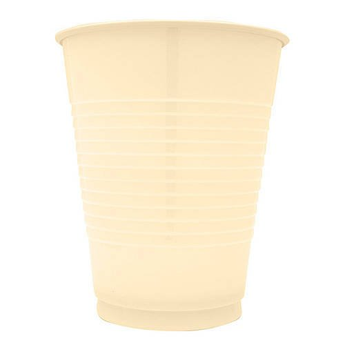 Plastic Cups 12 Oz Ivory, 20 Count