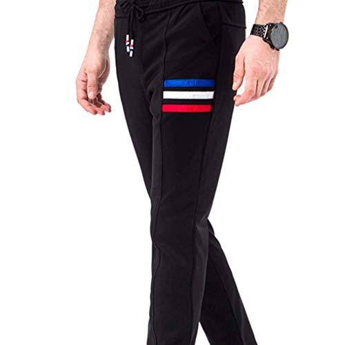 Essentials Casuales Deporte Al Hombre Negro Libre Fitness Funcionales De Academy Jogging Trekking Pantalones Fashion Men's Targogo Basicas Aire Rayas TBg0nXqR