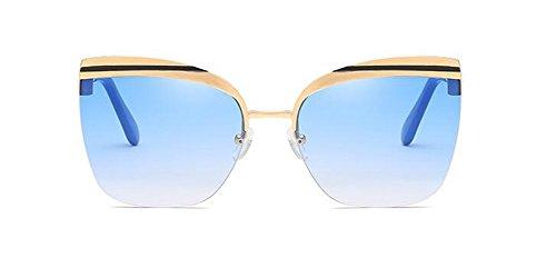inspirées lunettes Lennon Bleu polarisées cercle vintage soleil de rond métallique en Dégradé retro du style 8rnrtWg