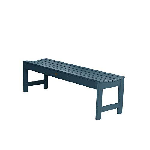 Highwood Lehigh Backless Bench, 5 Feet, Nantucket Blue