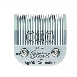 Oster Agion Hair Clipper Blade- Size 000- For Classic 76, Star-Teq, Power-Teq & Power Line Clippers by Oster - Blade Agion Clipper