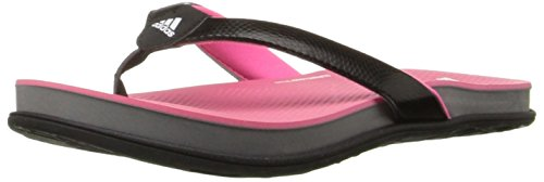 Adidas Performance Women's Supercloud Plus Thong W Athletic Sandal,Black/Solar Pink/Grey,7 M US