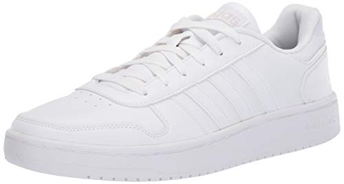 Low White Casual Shoes - adidas Men's Hoops 2.0 Sneaker, White/Grey, 12 M US