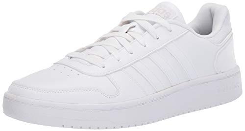 (adidas Men's Hoops 2.0 Sneaker, White/Grey, 4 M US)