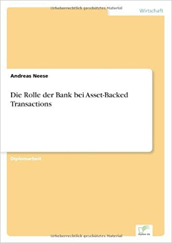 Book Die Rolle der Bank bei Asset-Backed Transactions (German Edition) by Andreas Neese (2003-01-01)