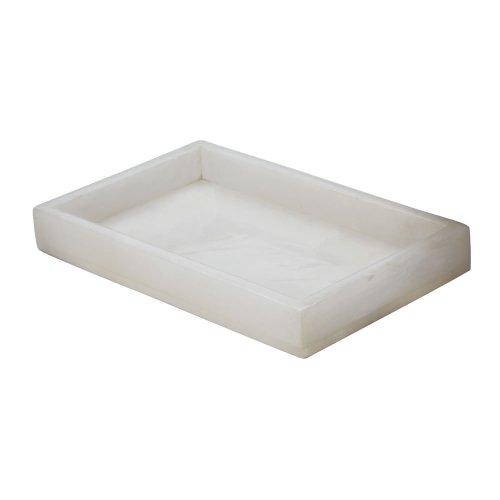 Dimond Home Alabaster Vanity Tray, White - Alabaster Area Rug