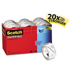 Packaging Tape Cabinet Pack (Scotch 385018CP 3850 Heavy-Duty Packaging Tape Cabinet Pack, 1.88