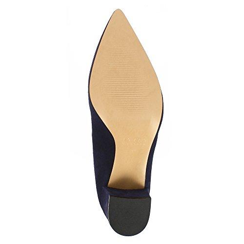 Evita Shoes Romina Damen Pumps Rauleder Dunkelblau