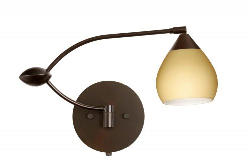 Besa Lighting 1WU-5605VM-BR 1X50W Gy6.35 Tay Tay Wall Sconce with Vanilla Matte Glass, Bronze Finish