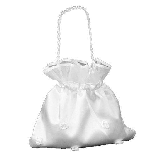 BESTOYARD Wedding Bags Satin Money Bag Bridal Bridesmaid Dolly Bag (Bag Bridal Purse)