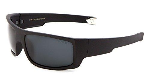 Men Sport Polarized Sunglasses Driving Motocycle Fishing Active Lifestyle (Polarized-Black, - Cop Glasses