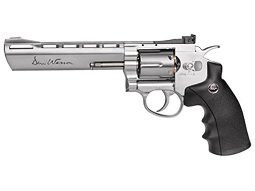 ASG Dan Wesson CO2 Powered Pellet Air-Revolver, Silver, 6""