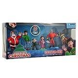 Arthur Christmas Collector Mini Figure 6Pack Santa, Arthur, Bryony, Gwen, Steve Reindeer by The Bridge Direct