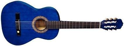 Tenson Classic F500055 - Guitarra, tamaño 4/4, color azul transparente