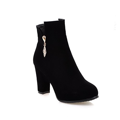 Black Boots Solid Womens Pull Suede Boots BalaMasa On WZq04wYWU