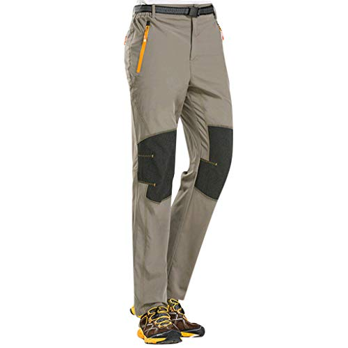 (Botrong Quick-Drying Outdoor Waterproof Trousers Hiking Ski Climbing Pants Tactical (Gray,L))