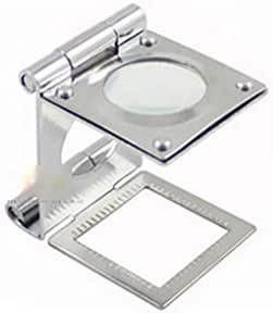 HAMIMI Folding Cloth Mirror Magnifying Glass Portable 10 Times 20 Mm Magnifying Glasses