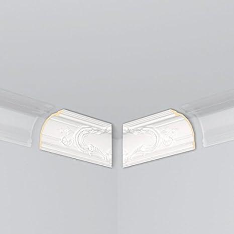 Cornisa / Moldura para techo / decorativa (Ángulo interior) «Le Mans» (