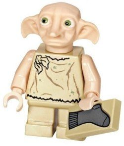 Lego Harry Potter: Dobby Minifigure With Sock