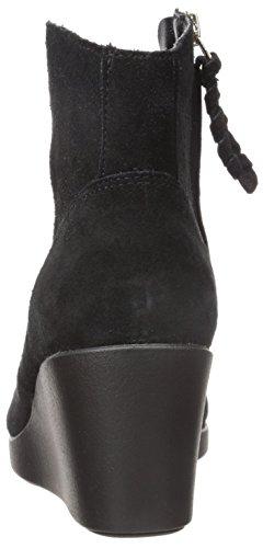 black Suede Black Bootie Leigh Femme Wedge CROCS XvPE1