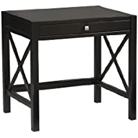 Linon Home Decor Anna Laptop Desk, Antique Black