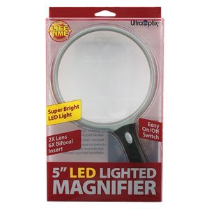 "Ultraoptix 5"" Lighted 2X Magnifier"
