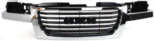 Crash Parts Plus Chrome Shell w/ Black Insert Grille Assembly for 2004-2012 GMC Canyon GM1200530