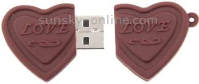 Todayday Normal Dual Hearts Style 16GB USB Flash Disk,Easy to Carry Around. Color : Color2