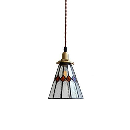 Creative Japanese Pendant Light, Brass Glass Chandelier, Restaurant Living Room Study Bedroom Bedside Lamp,4W LED Light Source