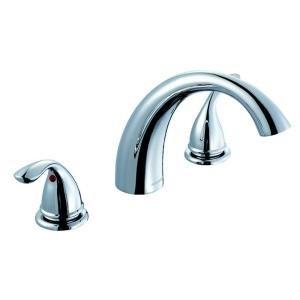 - Glacier Bay Builders 2-Handle Deck-Mount Roman Tub Faucet in Chrome