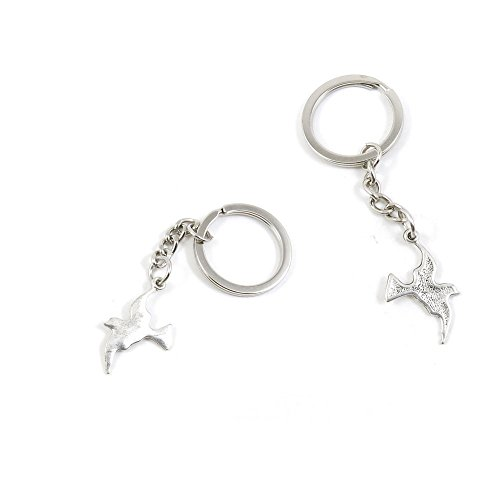 (1 Pieces Keychain Keyring Door Car Key Chain Ring Tag Charms Supply P1RD1F Pigeon Dove)