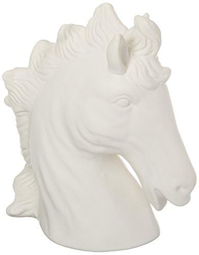 Urban Trends 46627-UT Decorative Ceramic Horse Head Matte, White