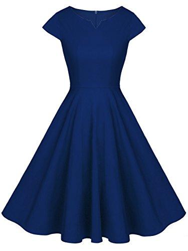 FAIRY COUPLE 1950S Retro Rockabilly Tupfen Kappen Hülsen Abschlussball Kleid DRT019