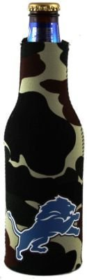 (DETROIT LIONS CAMO BOTTLE SUIT KOOZIE COOZIE)