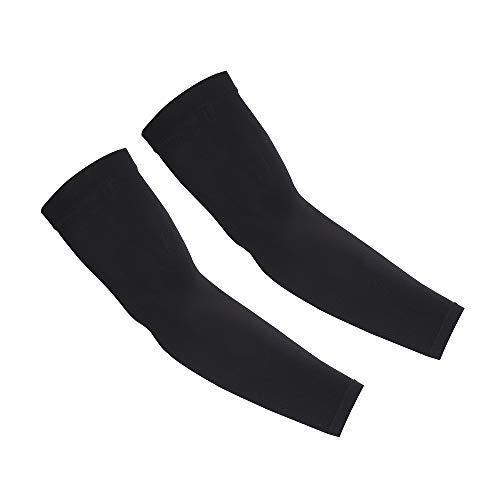 UV Protection Cooling Arm Sleeves - UPF 50 Compression Arm Sleeves for Men/Women/Students for Elbow Brace, Baseball, Basketball, Football, Cycling Sports(Black)