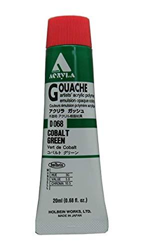 Holbein Acryla Gouache Artists Acrylic Polymer Emulsion, 20ml Cobalt Green (D068)