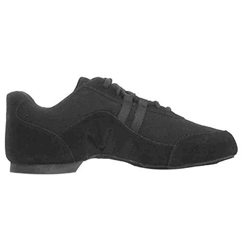 Sansha Adult Black Suede Canvas Full Sole Salsette Jazz Shoes Womens 3-20 icNWedH
