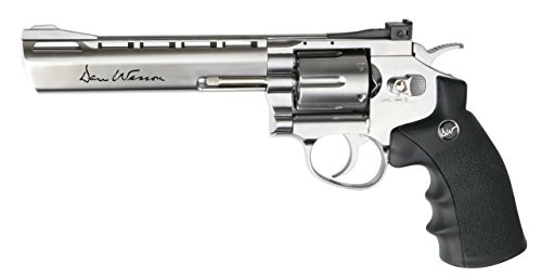 "ASG Dan Wesson 715 Low Power CO2 Revolver 6"", Silver"