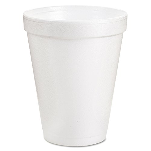 8J8 Foam Cups, 8 oz., White (Pack of 1000) (Dart Foam Cup Lid)