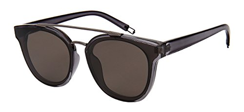 Edge-I-Wear Brow Bar Sunglasses with Flat Solid Lens (Brow Bar)