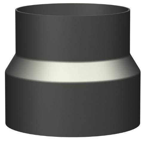 Articolo Fumisteria Linea Leña para caña liberación Color Reducción, diámetro 150 mm macho, diámetro 140 hembra: Amazon.es: Bricolaje y herramientas
