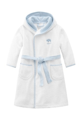 Bellybutton Kids Baby - Jungen Bademantel Bellybutton Kids Bademantel mit Gürtel, 10868-90604, Gr. 86, Mehrfarbig (white/light blue)