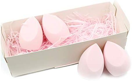NA Gel Nail Sakura Polvo hidrófilo no látex húmedo y seco Belleza Huevo Kit Puff 4 Paquete