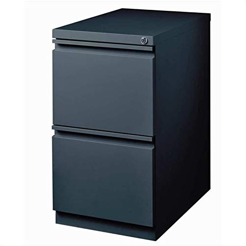 Pemberly Row 2 Drawer Mobile Metal File Cabinet in Charcoal by Pemberly Row