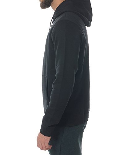 Nike Mens Sportswear Pull Over Club Hooded Sweatshirt - Medium - Black/White