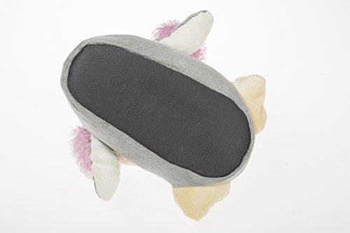 gibra - Zapatillas de estar por casa de tela para niño Varios Colores - Grau/Rosa