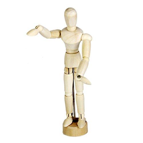 木製人体 人体模型 モデル知育玩具 幼児教育 雑貨 おもちゃ 道具 (14cm)